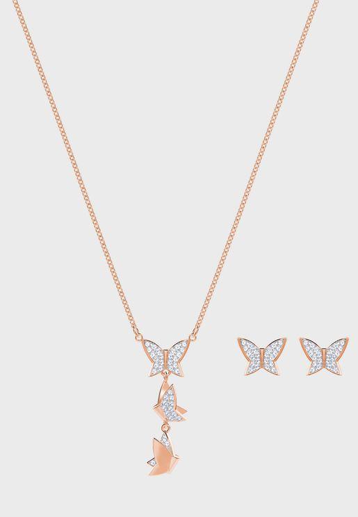 Lilia Necklace + Earrings Set