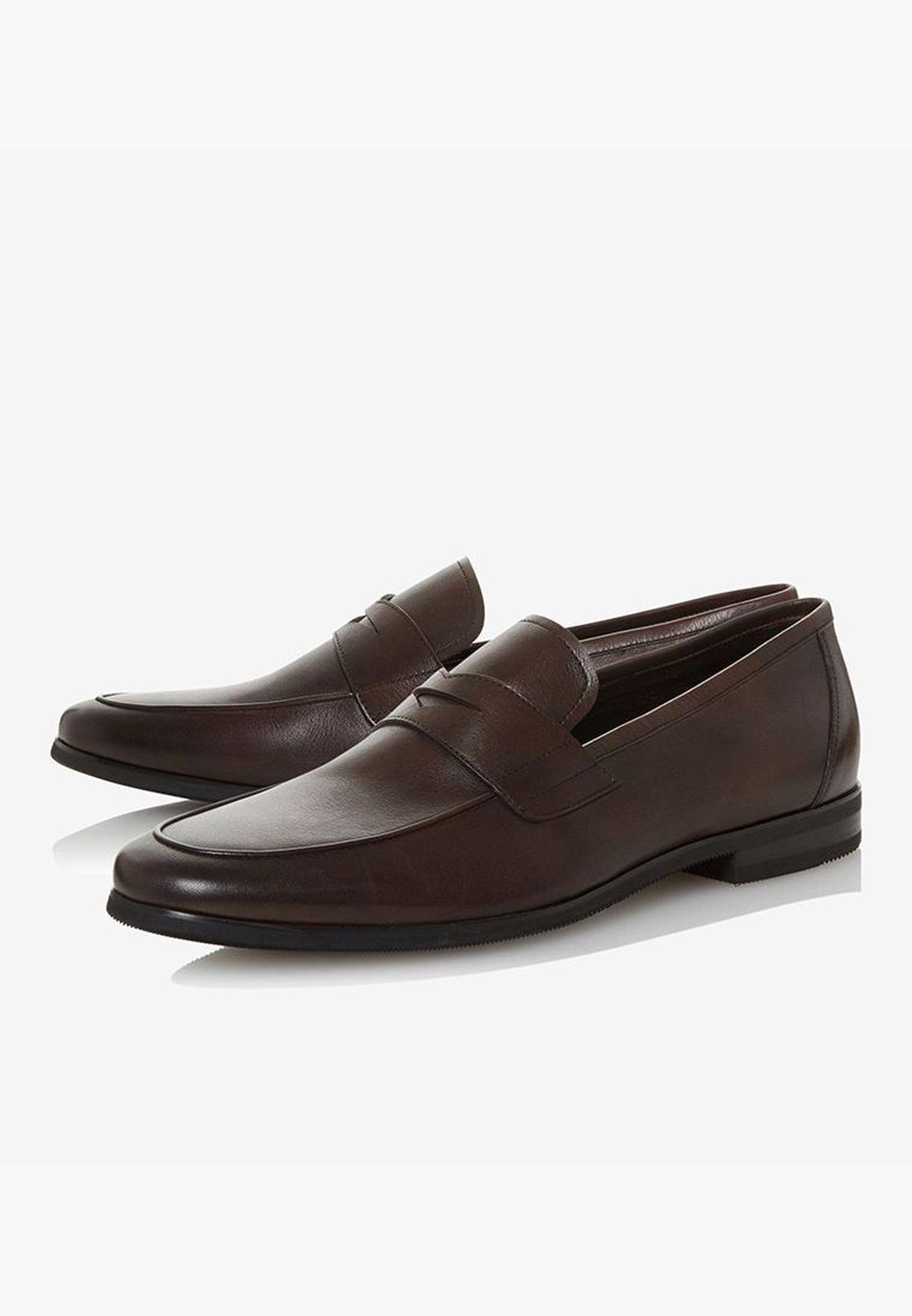 Solid Formal Slip-ons - Brown