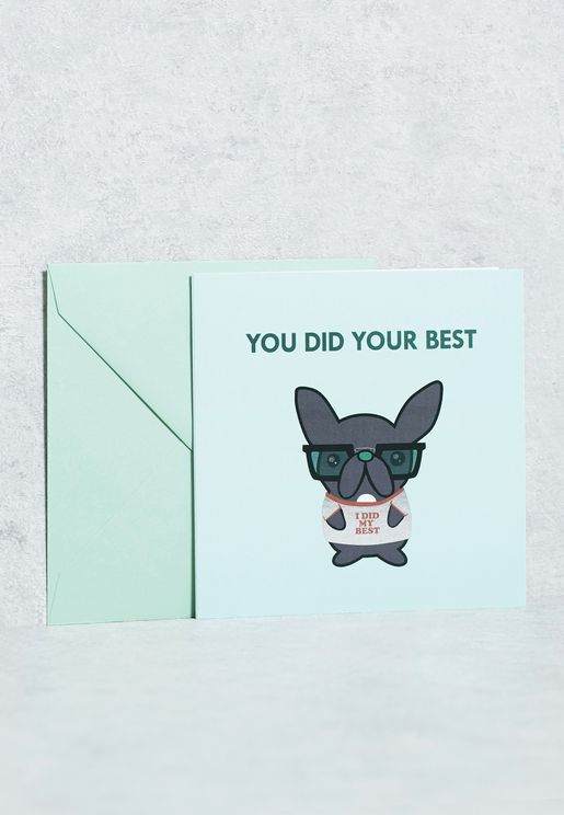 You Did Your Best Card