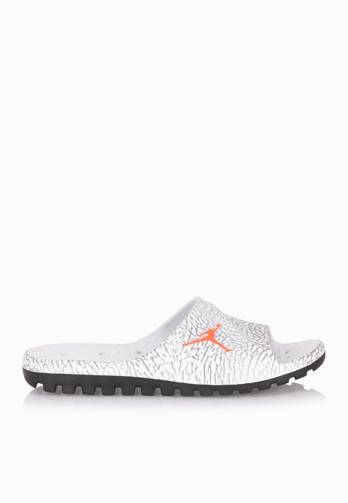 09b5eca41344 Shop Nike grey Jordan Super Fly Team Slide 842400-007 for Men in UAE ...