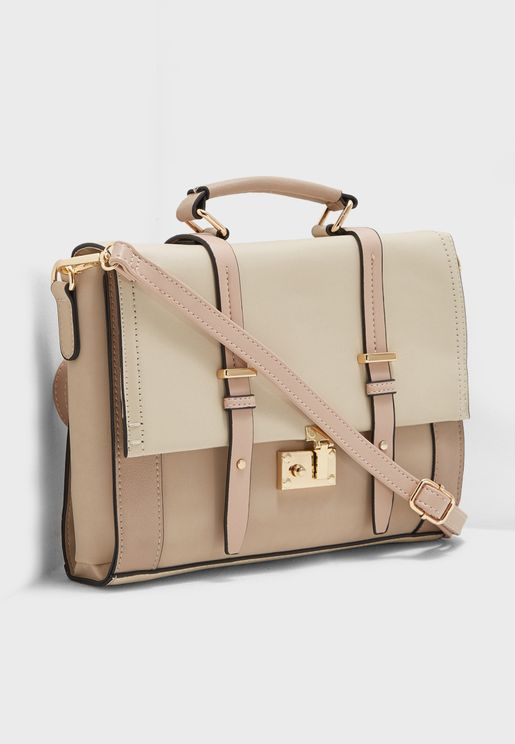 Col Block Simple Satchel