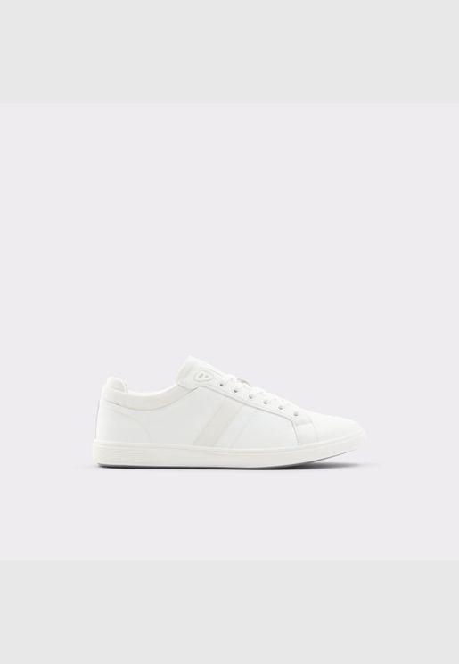 ALDO KOISEN Men Synthetic Leather Shoes Flat Heel Euro 46 White