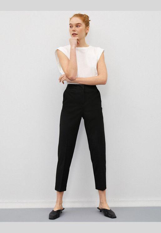 Pocket Trousers Crop Basic