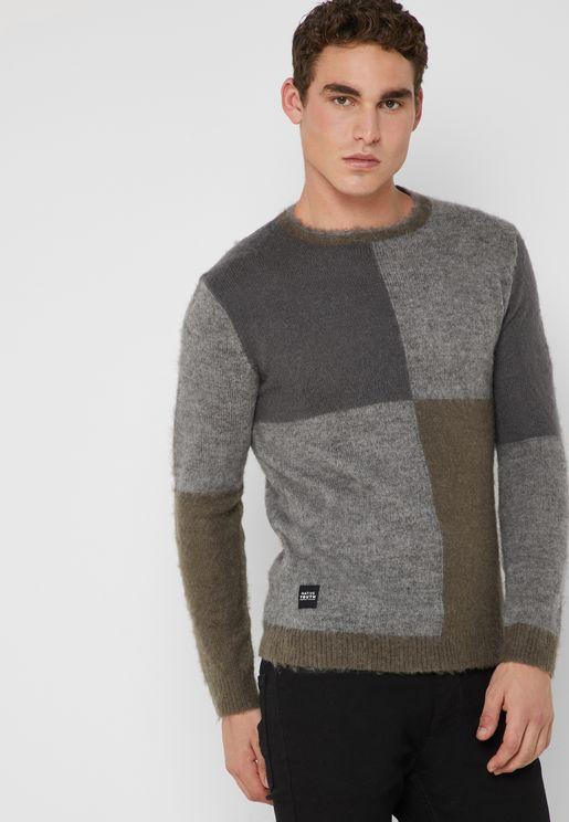 Bierchett Colour Block Knitted Sweater