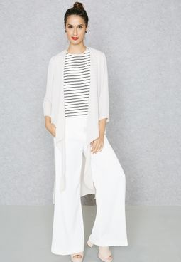 Waist Tie Longline Kimono