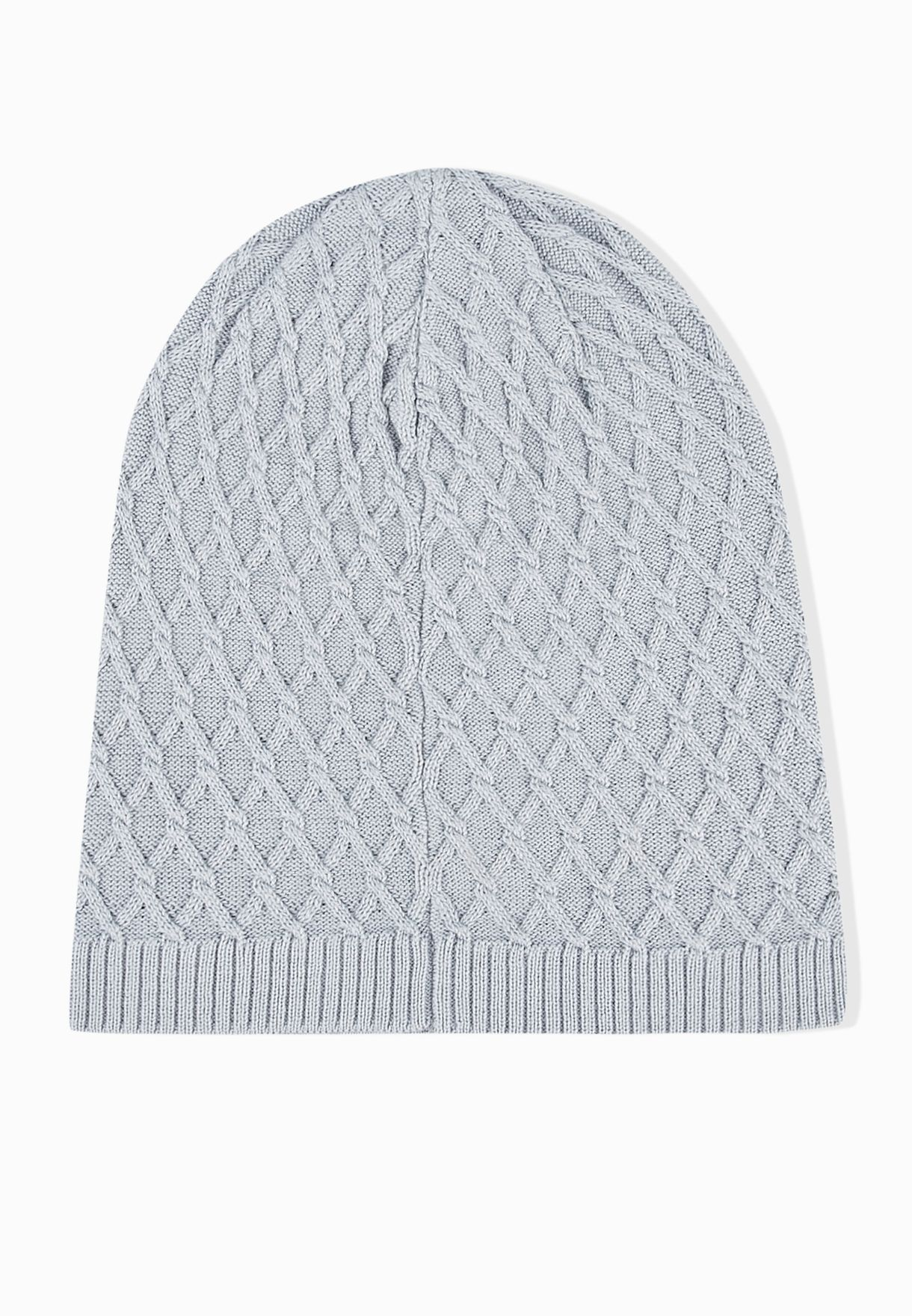 105b2188d4b Shop Nike grey NSW M  39 S Cable Beanie 717118-012 for Men in ...