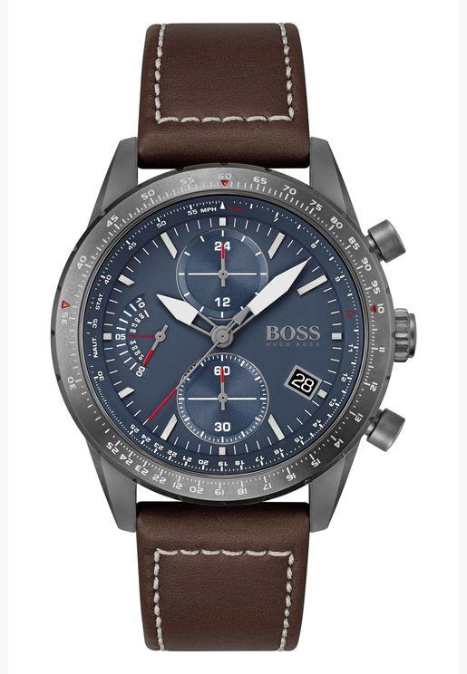 هوغو بوس ساعة بايلوت اديشن جلد كرونو للرجال - 1513852