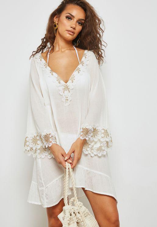 Lace Insert Beach Dress