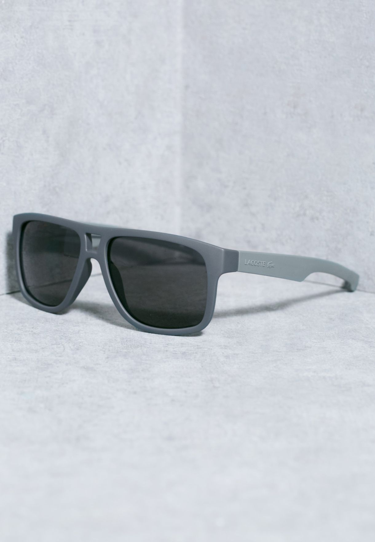 67b5f2d1921 Shop Lacoste grey Magnetic Frame Rectangle Sunglasses L817S-035 for ...