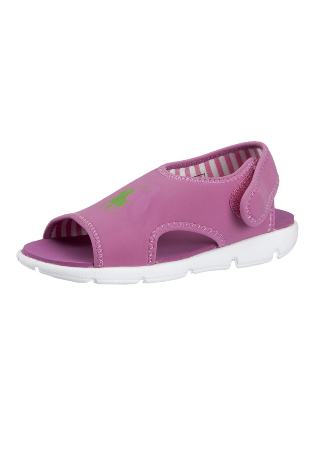 f70fd44c7655 Shop Polo Ralph Lauren pink Cove Open Toe Sandals 96691 for Kids in ...