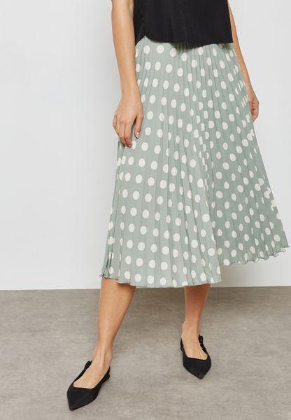 Polka Dot Printed Skirt