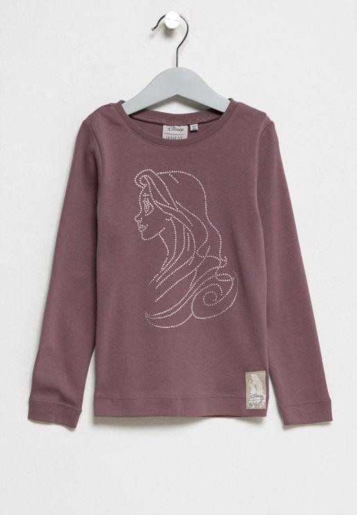 Little Rapunzel and Rhinestone T-Shirt