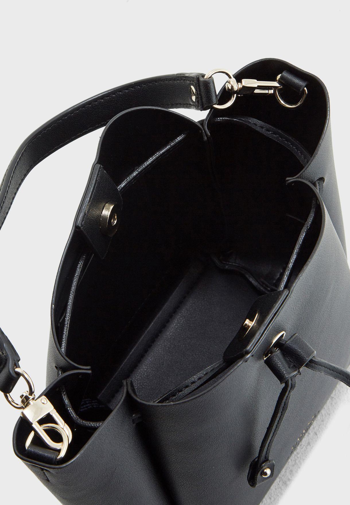 57f34f13fe68 Shop Guess black Mini Ella Bucket Hobo VG709673BLA for Women in ...