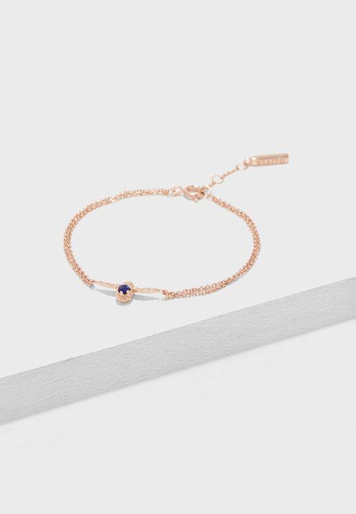 Bejewelled Bee Chain Bracelet
