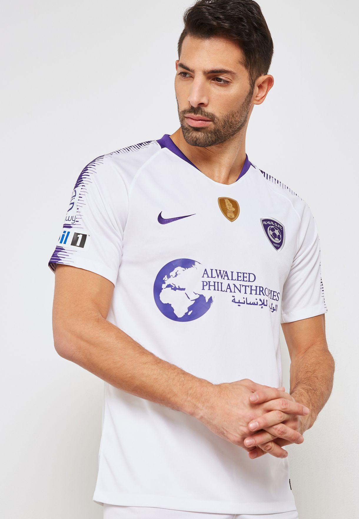 c6d30164eb96 Shop Nike white Al Hilal 18 19 Away Jersey 894426-100 for Men in UAE ...