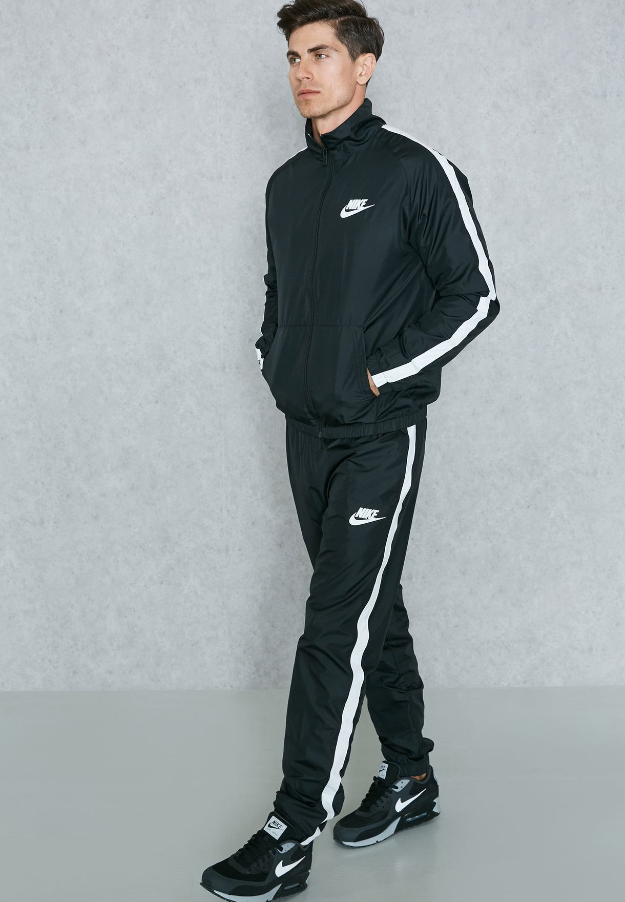 856a53e262aa Shop Nike black Woven Tracksuit 832846-010 for Men in UAE - NI727AT68ZFN