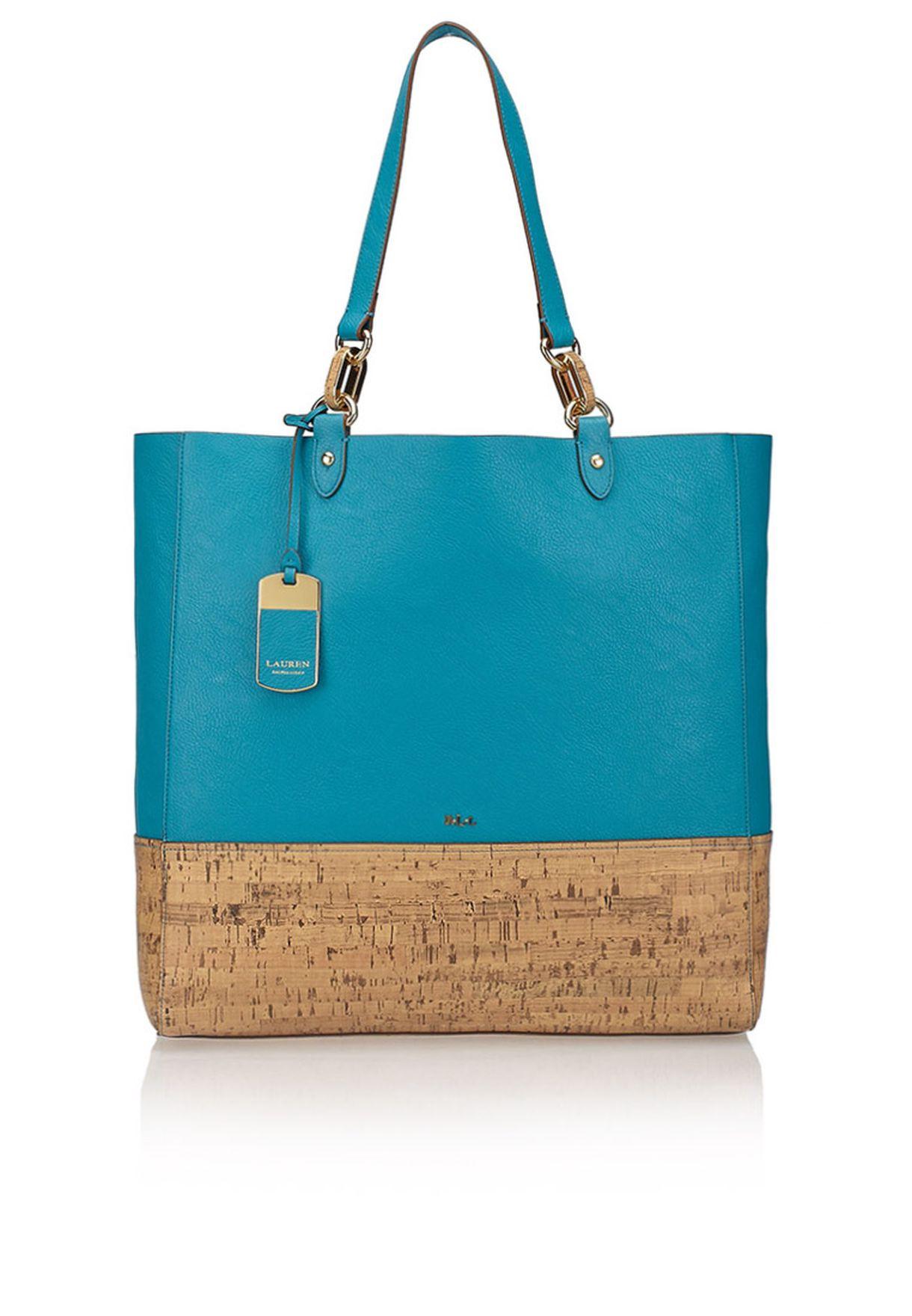 c761663b79 Shop Lauren Ralph Lauren blue Bembridge Cork Tote 431504308003 for ...