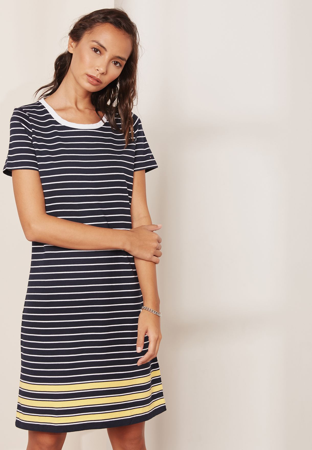 Shop Tommy Hilfiger blue Striped T-Shirt Dress WW0WW22104 for Women in  Kuwait - TO279AT68QBR 179eeac0b