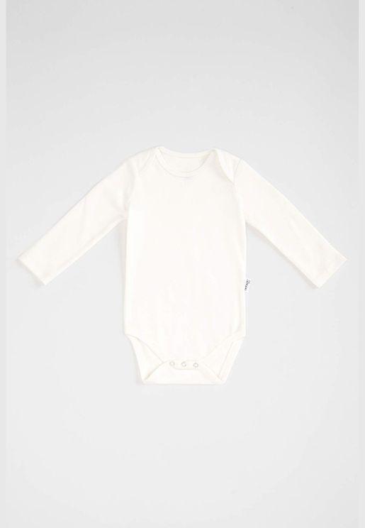 BabyGirl Knitted Regular Fit Long Sleeve Snap Body