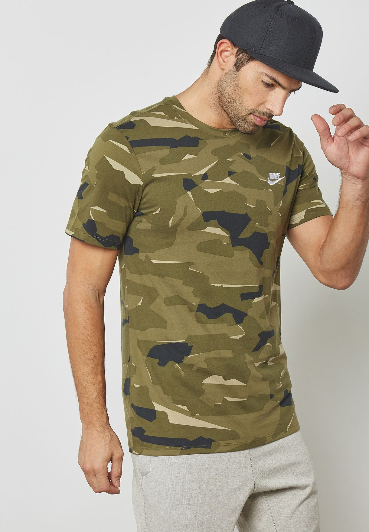 8454942100ca Shop Nike prints NSW Camo T-Shirt AJ6631-209 for Men in UAE ...