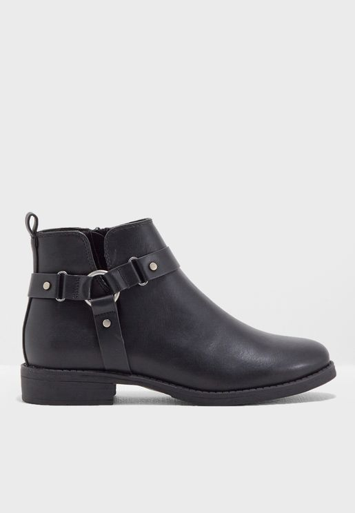 Bibi Buckle Booties