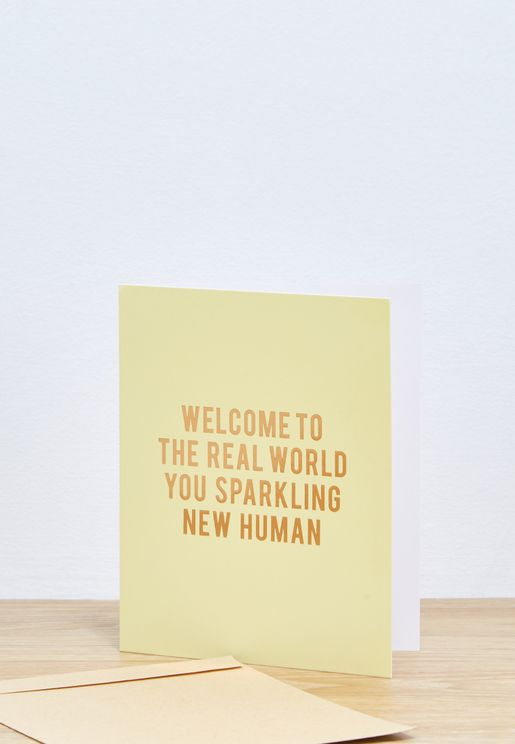 Sparking New Human Baby Card