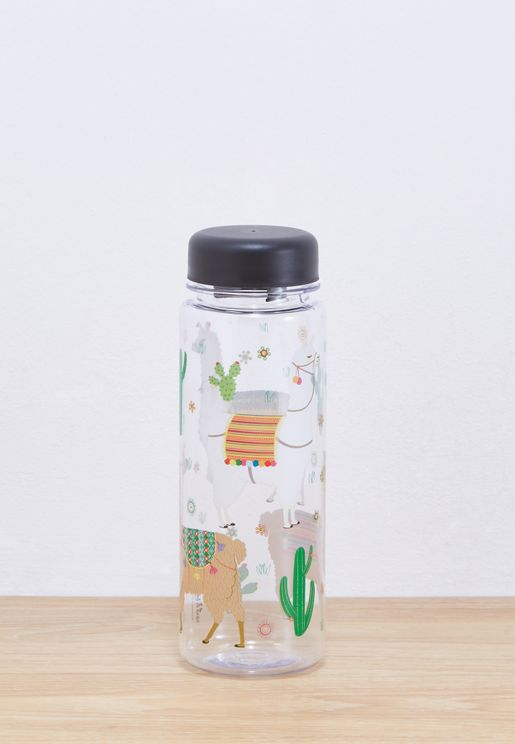 Lima Llama Clear Water Bottle