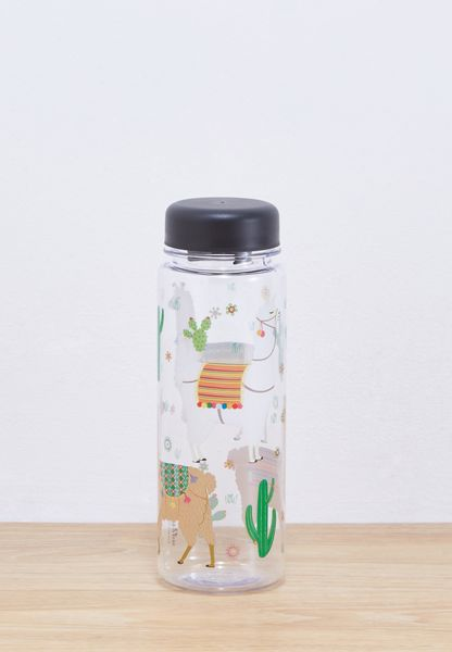 Lima Llama Clear Water Bottle