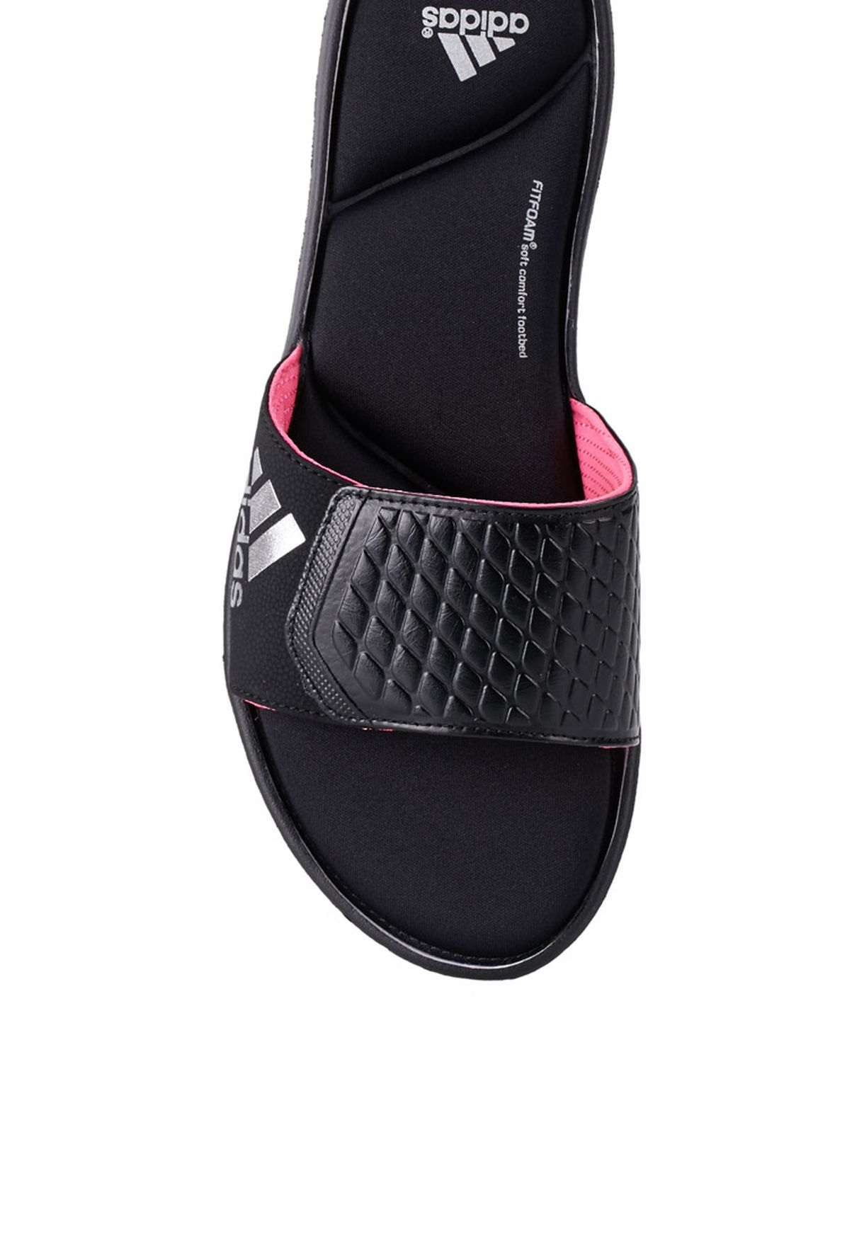 478e9e314 Shop adidas black Anyanda Flex Slide Flip Flops B44266 for Women in ...