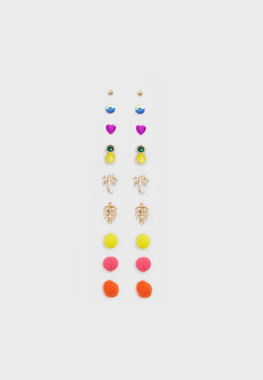 Pack of 9 Summer Fun Earrings