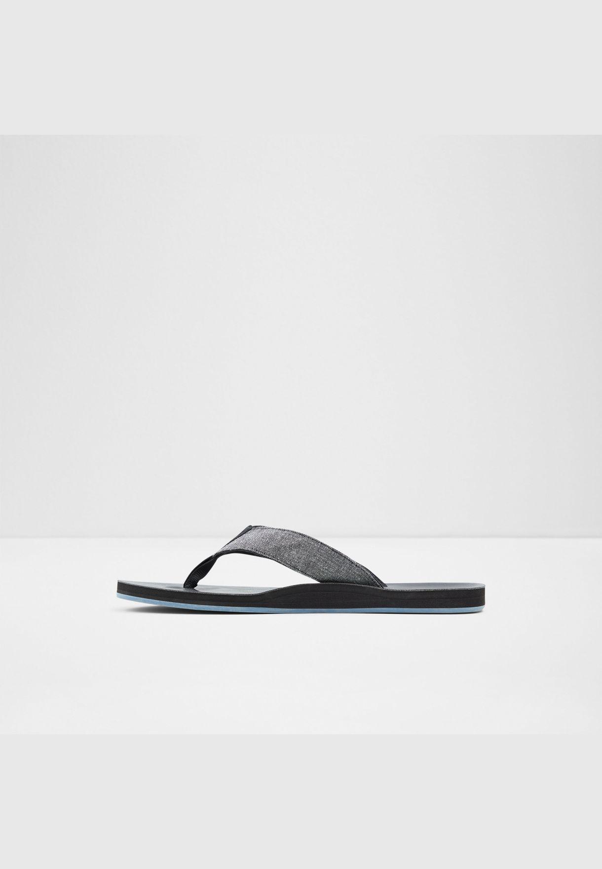 Fabric Sandal Flat Heel