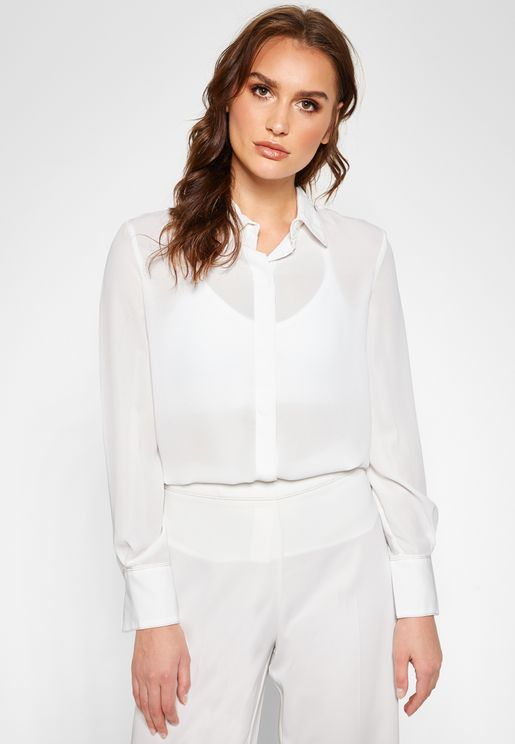 Cuffed Sleeves Shirt