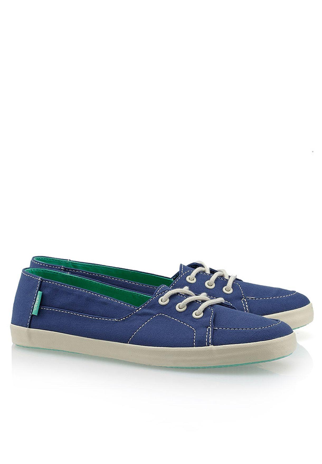 3302682d15 Shop Vans blue Palisades Vulc Slip Ons for Women in Kuwait - VA088SH68TGD
