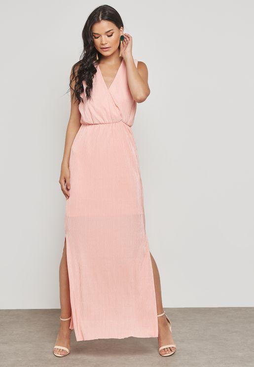 Side Slit Wrap Dress