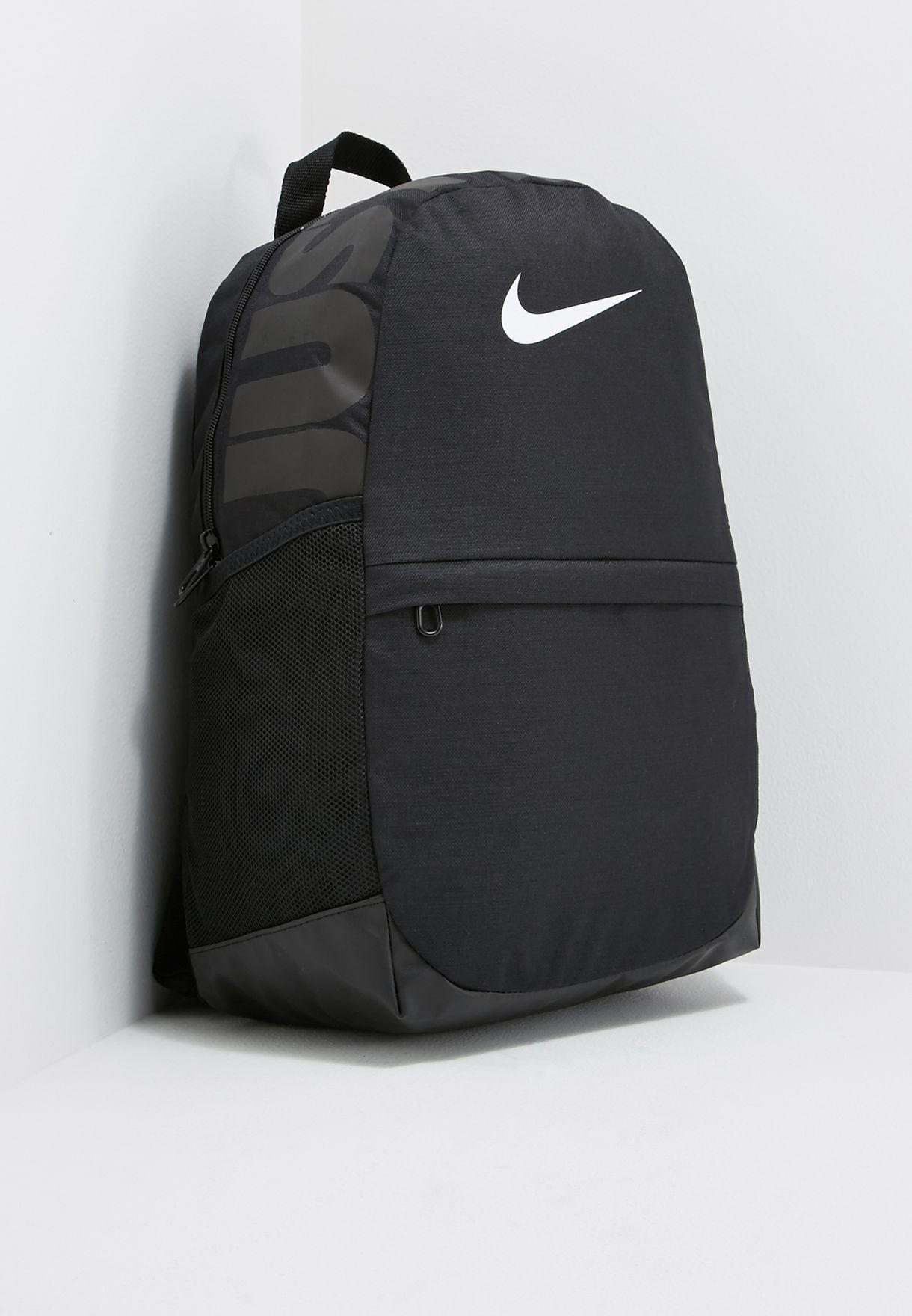 e1578b0e354c Shop Nike black Brasilia Backpack BA5473-010 for Kids in UAE ...