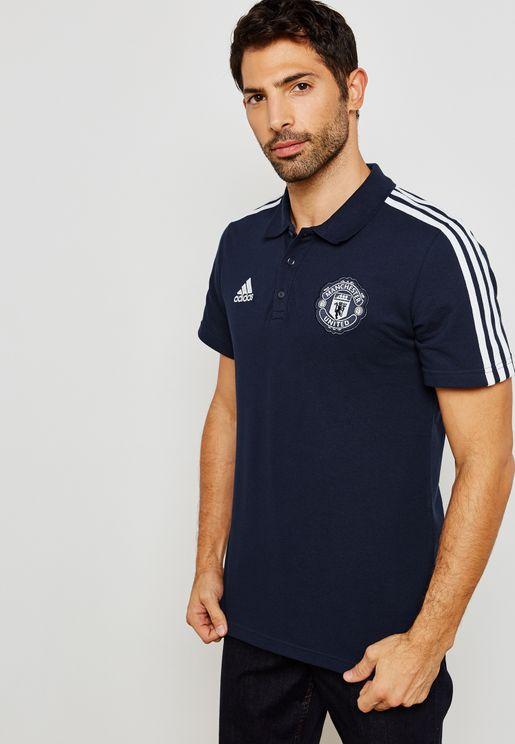 Manchester United 3 Stripe Polo