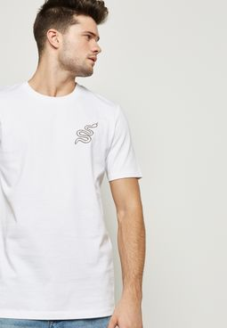 Snake Embroidered T-Shirt