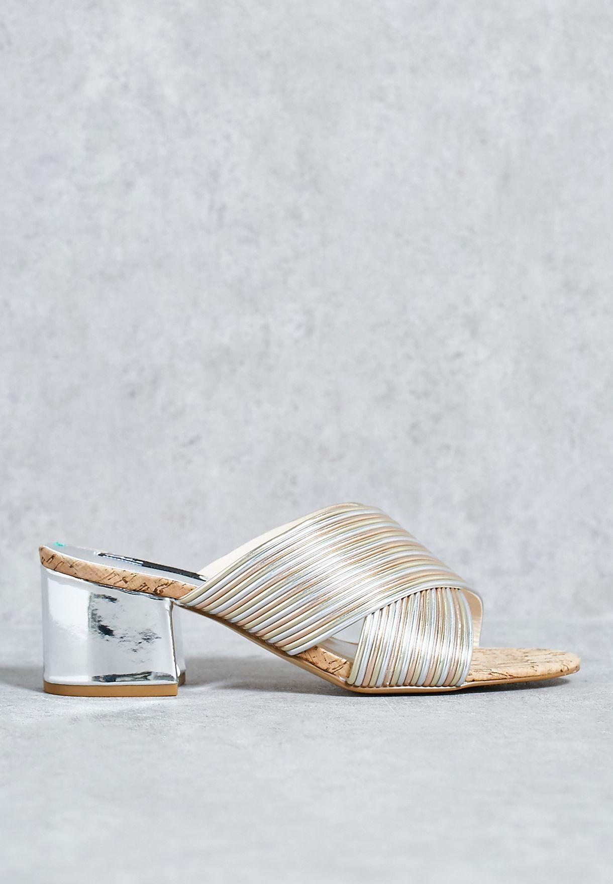 ad687e093e Shop Blink multicolor Block Heel Sandal 802706-H-2101 for Women in ...
