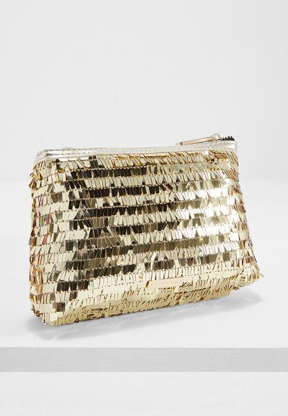 Sequin Make Up Bag