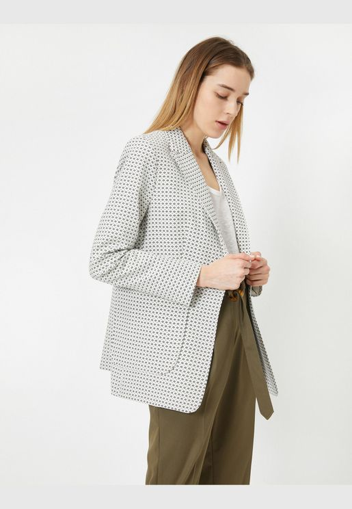 One Button Detailed Suitjacket