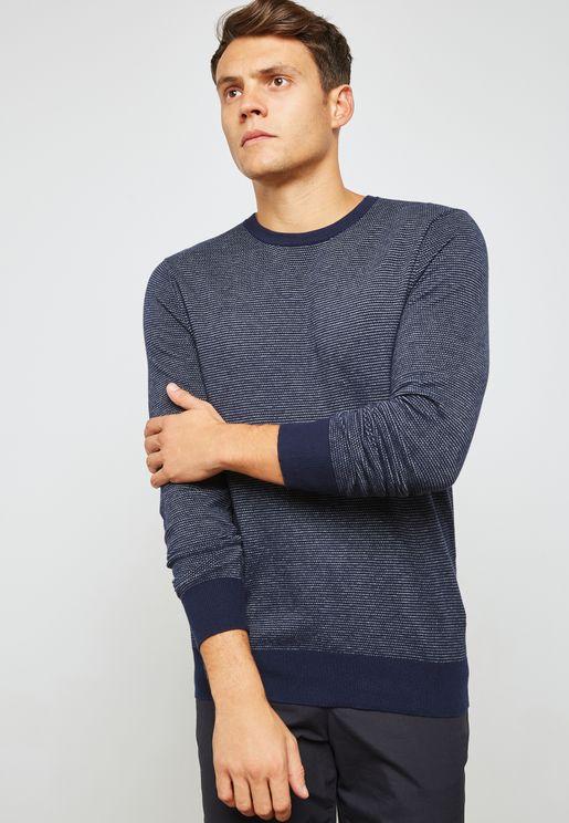 Pique Crew neck Sweater