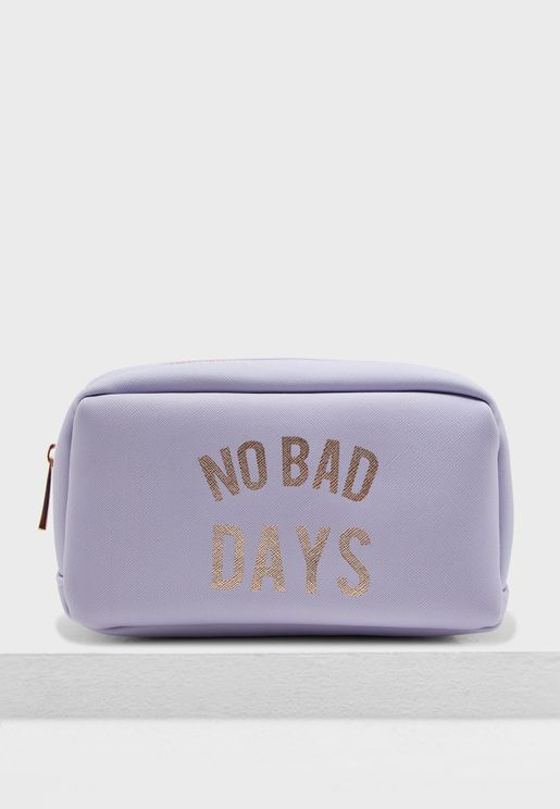 Small No Bad Days Cosmetic Bag