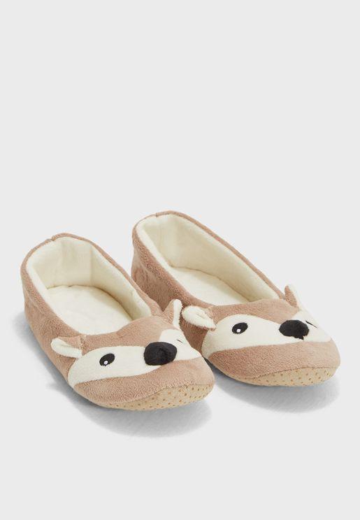 Taiba Fox Bedroom Slippers