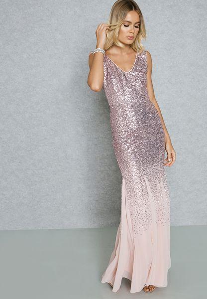 Sequin Fishtail Dress