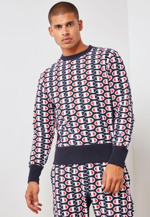 Reverse Weave AOP Sweatshirt