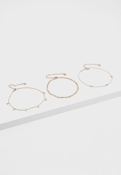 Pack of 3 Anklets