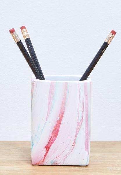 Marble Pen Pot