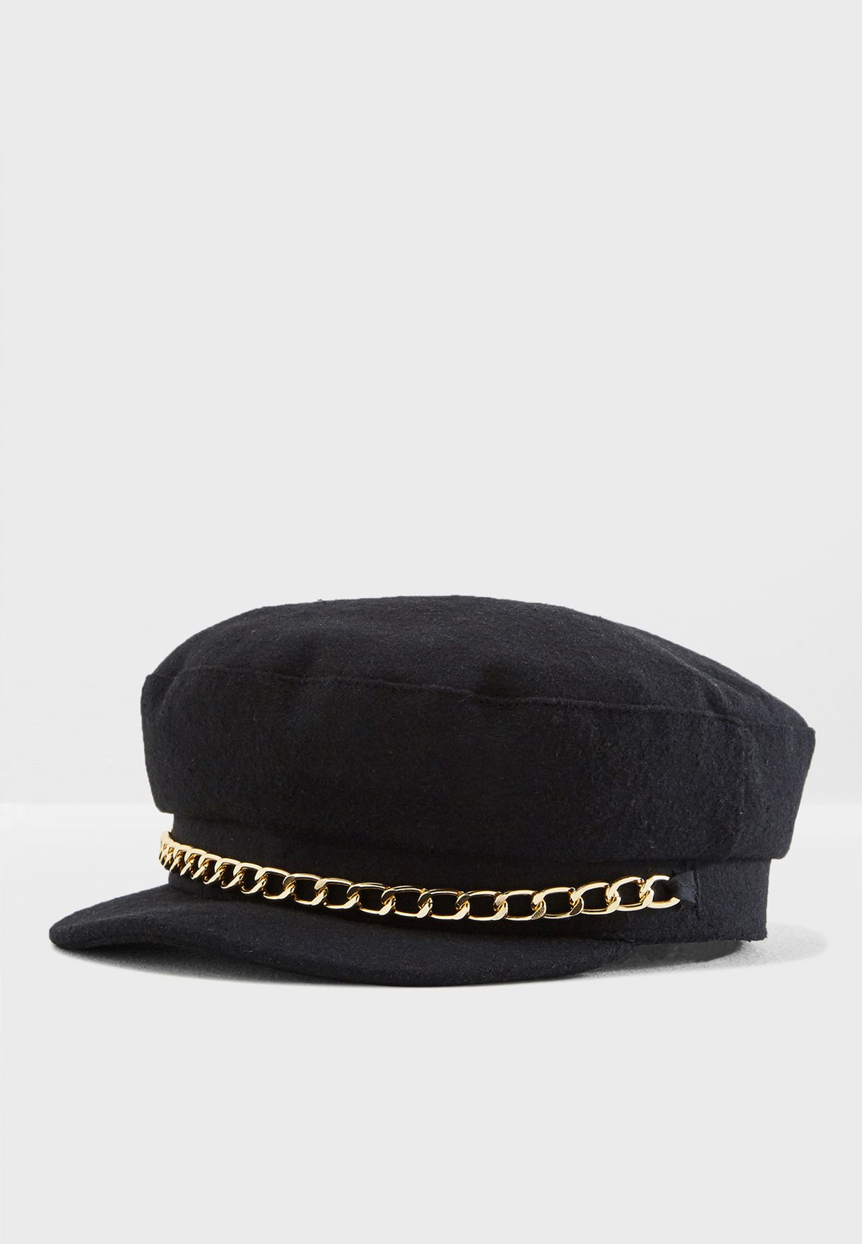 107ae54fa82 Shop Miss Selfridge black Chain Trim Baker Boy 49A01XBLK for Women in Saudi  - MI858AC68XFF