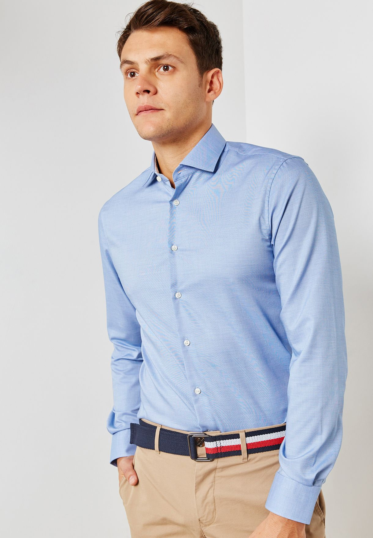 5b93e92ae4d7 Shop Tommy Hilfiger blue Tommy Hilfiger Slim Fit Shirt TT0TT03405 for Men  in UAE - TO279AT58TUF