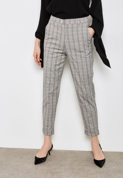 Checked Cropped Pants